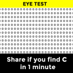 Can You Spot the C in Less Than a Minute?