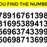 Can You Spot The Number 250 In Under 1 Minute?
